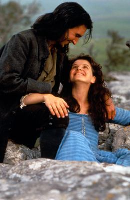 "Heathcliff and Catherine Earnshaw in the 1992 ""Wuthering Heights"". Image credit: Paramount Pictures"