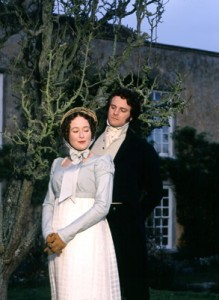 "Elizabeth Bennet and Mr. Darcy in the 1995 ""Pride and Prejudice."""